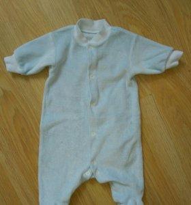 Велюровый комбинезон для новорожденных