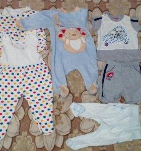 Детская одежда пакетом 60 предметов