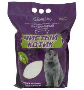 """Наполнитель """"Чистый котик"""" впитывающий минеральный"""