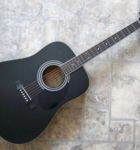Электро-акустическая гитара, черная, Parkwood