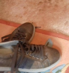 Кожанные ботинки из Америки