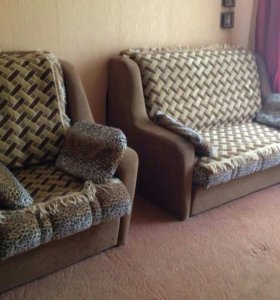 Комплект мягкой мебели(диван + кресло-кровать)