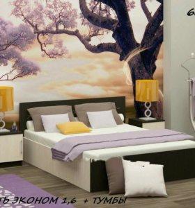 Кровать эконом и тумбы