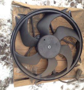 Вентилятор радиатора Пежо 307 новый