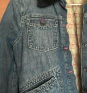 Куртка джинсовая утепленная