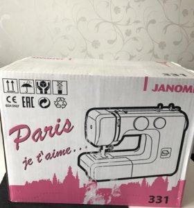 Новая, швейная машинка, Janome 331