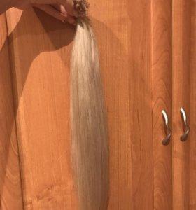 Натуральные волосы 55 см блонд