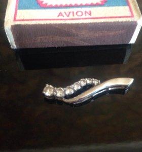 Кулон серебро циркон