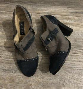 Ботильоны, туфли из натуральной замши