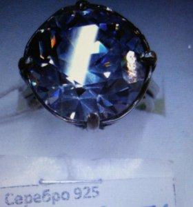 Кольцо серебро 925 родированное новое