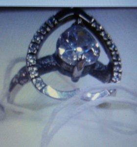 Кольцо серебро925 новое