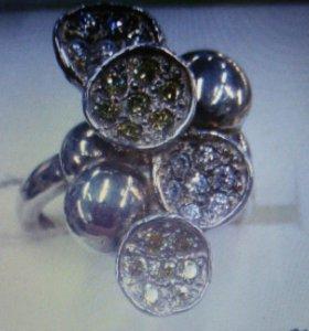 Кольцо серебро 925пробы новое