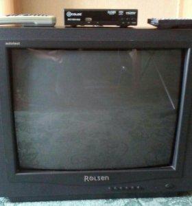 Телевизор и приставка DTV-2