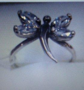 Кольцо серебро 925 пробы новое