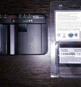 Зарядник Canon LC-E4 + батарею Lenmar dlce4