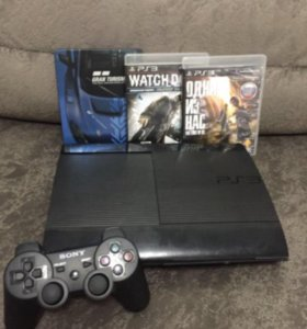 PS3 2 геймпада + 2 игры