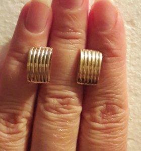 Серьги золото 585