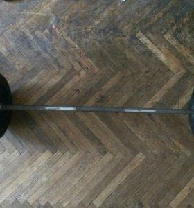 Штанга Barbell 100 кг (гриф, блины)