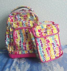 Детский рюкзак на светящихся колесах