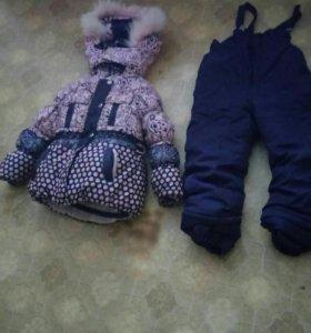 Зимний пуховик с штанами, и жёлеткой