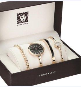 Комплект женские вентажные часы Аnne Klein с брасл