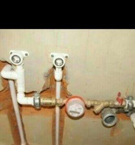Водопровод, канализации, сливные ямы, счётчики