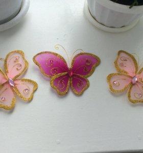 Бабочки на тюль
