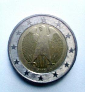 2 евро 2002 год