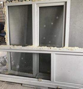 Окно балконное и дверь б/у