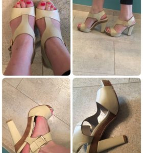 Бежевые туфли/ босоножки Mascotte