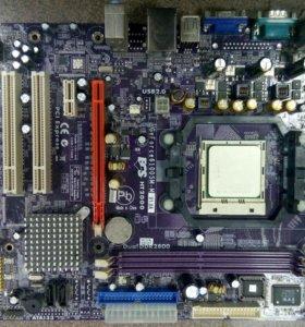 Материнская плата АМ2 с процессором