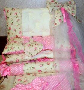 Бортики в кроватку, текстиль
