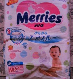 Подгузники Merries m 6-11 кг.