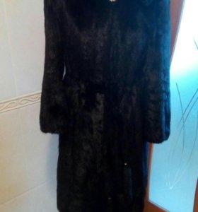 Шуба норковая с капюшоном,48-50