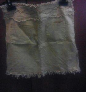 Юбка женская джинсовая трикотаж.