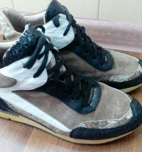 Кожаные кроссовки-ботинки Alba