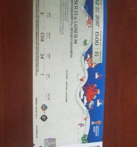 Билет на футбольный матч 2 июля в Москве