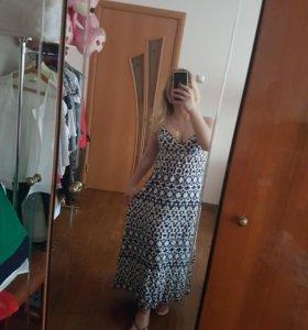 Длинное платье повседневное/пляжное