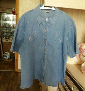 Новая джинсовая рубашка 56-58 размер