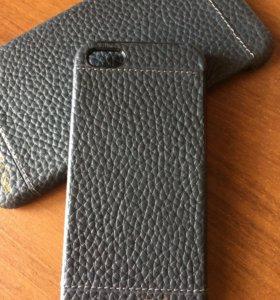 Кожаный чехол для IPhone 5,5S,Se