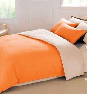 Однотонное постельное бельё, очень мягкое