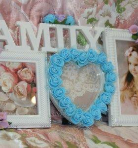 Рамки для фото с цветами