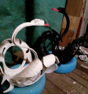 Лебеди из шин
