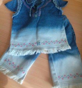 Костюм: джинсы и туника