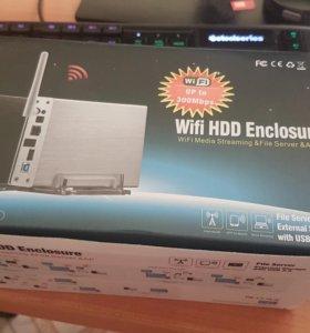 WiFi LAN USB док станция под жесткий диск (HDD)