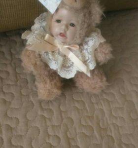 Фарфоровая + текстильная кукла