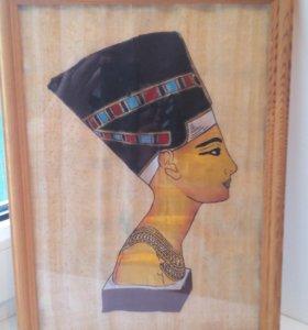Картина на папирусе в рамке 30*21