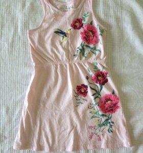 Платье h&m р.110-116 почти новое