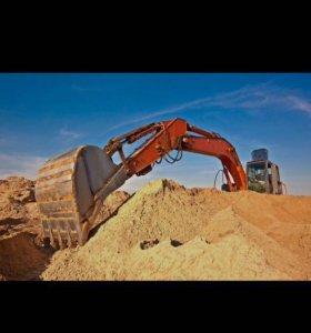 Песок, щебень, скала.