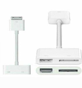 Apple 30-контактный аудио видео переходник